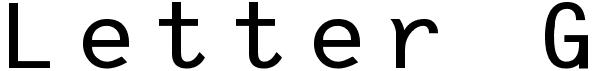 Letter Gothic Evo