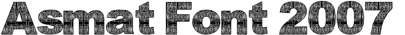 Asmat Font 2007