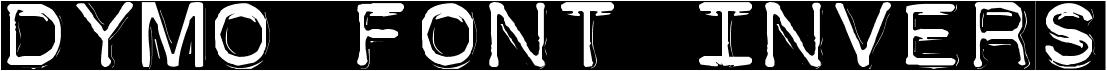 Dymo Font Invers