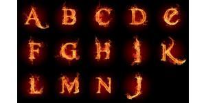 26个火焰字体素材