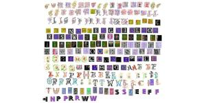 漂亮的花纹矢量字母素材(ai)