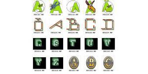 四组有趣的26个英文字母集(wmf)