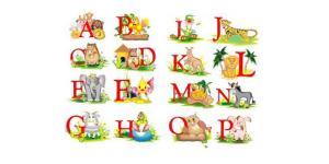 26个可爱动物英文字体(ai)