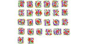 26个鲜花英文字体(ai)