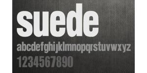 有重量感的一款suede字体