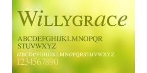 一款字型秀美Willygrace字体