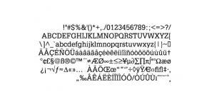排版常用petitlatin_pc字体