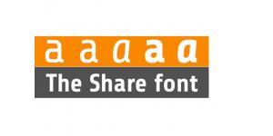 一款经典实用share字体