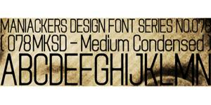 一款078MKSD_winTT字体