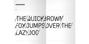 时尚切割创意英文字体