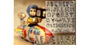 Denne's aliens英文字体素材