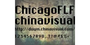 折角Chicago英文字体