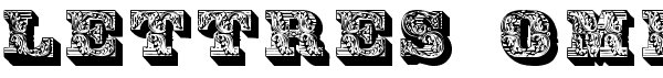 Lettres ombrées ornées