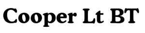 cooper 全系列字体包(印刷常用