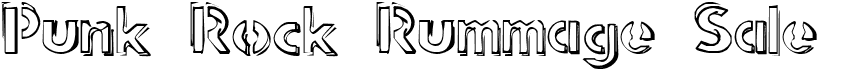 Punk Rock Rummage Sale