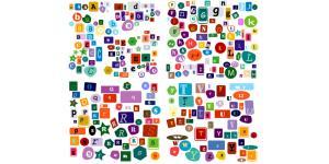 各种形式的26个英文字母素材(cdr)