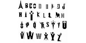 26个艺术字体素材(EPS)
