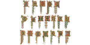 欧美花式英文字体素材