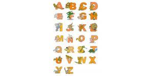 动物矢量字母字体(eps)