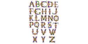 26个英文字母艺术字体(psd)