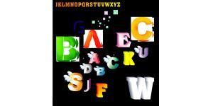 精品3D英文字母素材(cdr)