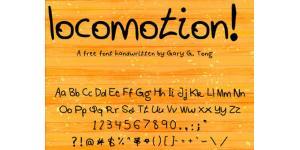 手绘locomotion字体素材