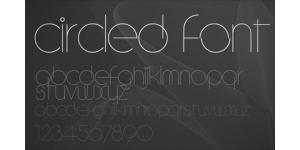 一款细线简约字体素材