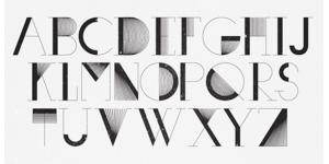 单线组成几何面的英文字体