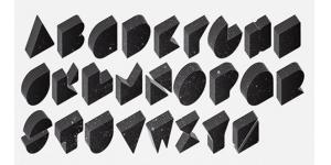 重叠几何型英文字体