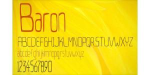 Baron字体素材