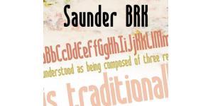 纤瘦形拐角Saunder字体素材