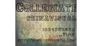空心CollegiateOutline英文字体