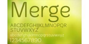 merge英文字体素材