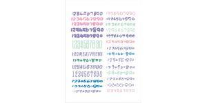 pop字体数字类