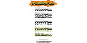 Graffiti Fonts 涂鸦字体包(300个)